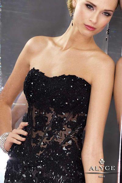 Black lace corsets dresses