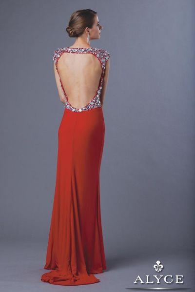 Alyce 2337 Claudine Slim Jersey Evening Dress French Novelty