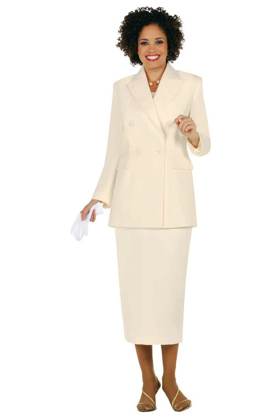Immediate Credit Card >> Size 16 Ivory Ben Marc 2298 Womens Church Usher Suit - French Novelty