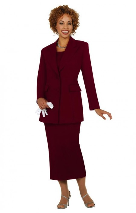 Size 18 Burgundy Ben Marc 2299 Womens Group Church Usher Suit