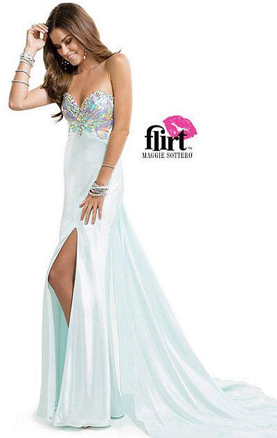 Flirt P4829 Iridescent Sequin Formal Dress