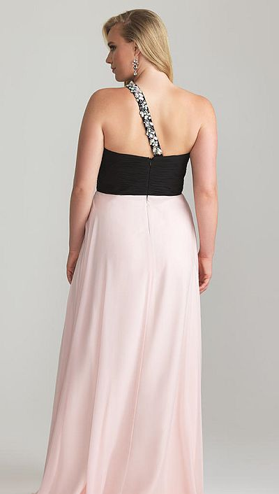 93043605833 Night Moves 6780W Plus Size Ruched Empire Gown  French Novelty