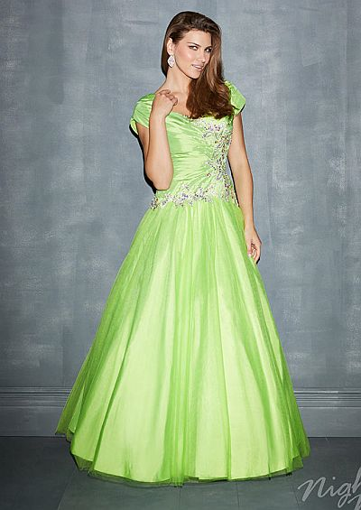 91910297acc Night Moves Modest 7184M Taffeta Ball Gown  French Novelty