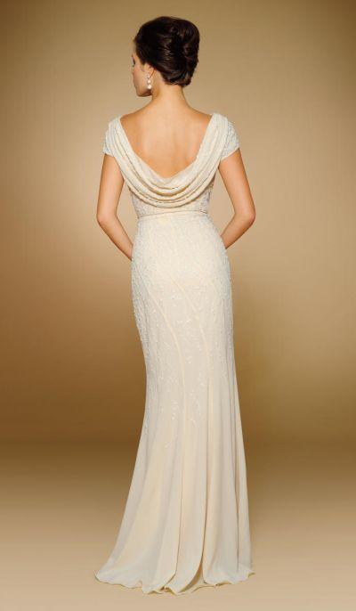 Rina Di Montella 1820 Cowl Back Mother Of The Bride Dress