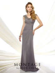 8f8962f399e Size 20W Smoke Montage 116945 Tip of the Shoulder Formal Gown
