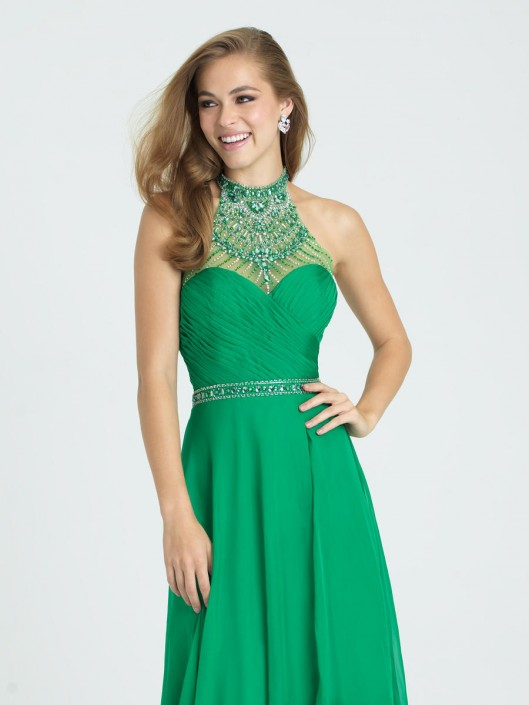 Size 0 Green Madison James 16 407 Boho Chic Prom Gown French Novelty