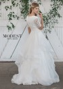 88ce7d6333dc 0 star rating Write a review. Mon Cheri TR21860 Ruffled Modest Wedding Dress