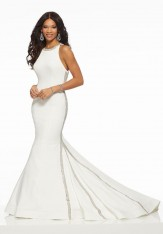 cbb209d84e09 Size 18 White-Silver Morilee 43091 Mermaid Gown with Subtle Sparkle