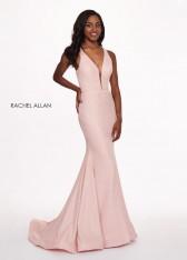 37070bceb7c Size 14 Blush Rachel Allan 6472 Crinkled Foiled Prom Dress
