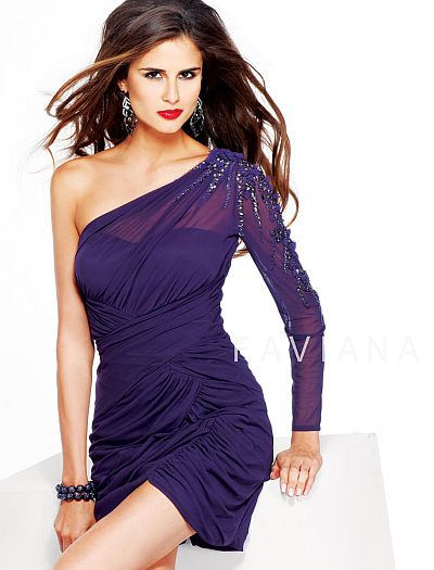 Faviana Glamour Cocktail Dress S7015: French Novelty