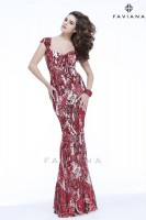 Faviana Glamour S7382 Ornate Sequin Prom Gown image
