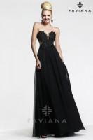Faviana Glamour S7453 Chiffon Evening Dress image