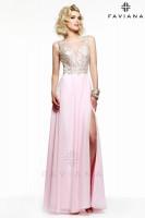 Faviana Glamour S7503 Lace and Chiffon Prom Dress image