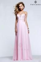 Faviana Glamour S7522 Beaded Chiffon Prom Dress image
