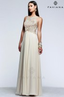 Faviana Glamour S7533 Chiffon Prom Gown with Lace image