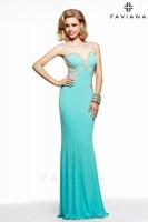Faviana Glamour S7534 Jersey Illusion Evening Dress image