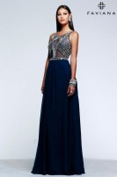 Faviana Glamour S7559 Sheer Beaded Prom Dress image