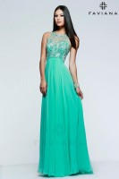 Faviana Glamour S7560 Beaded Chiffon Formal Gown image