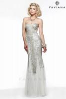 Faviana Glamour S7567 Liquid Beaded Prom Dress image