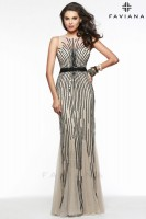 Faviana Glamour S7596 Stretch Tulle Prom Gown image