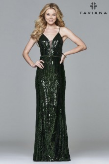 0cb1fdb069b Jovani 48334 Sequin Cut Out Prom Dress.  640.00 · Faviana Glamour S8011  Sequin Gown