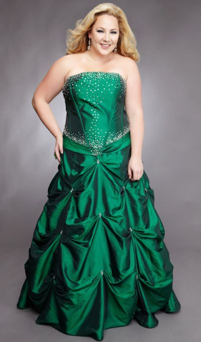 Sydneys Closet Plus Size Corset Ball Gown for Prom with Pickups SC3012