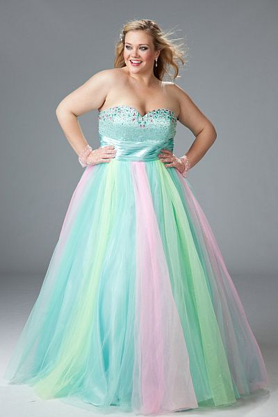 Sydneys Closet Plus Size Glitter Tulle Prom Ball Gown Sc3024 French