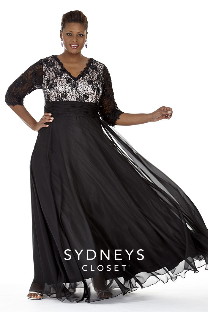 Sydneys Closet Sc4018 Plus Size Evening Gown French Novelty