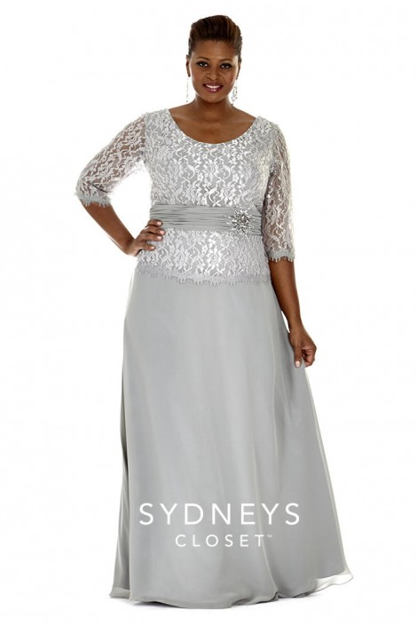 Sydneys Closet SC4020 Plus Size Mother of the Bride Gown: French Novelty