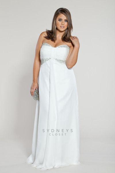 Sydneys Closet SC5018 Plus Size Informal Wedding Dress