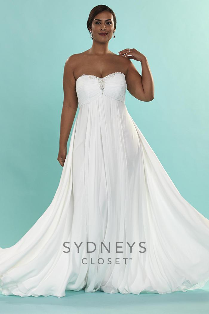 Sydneys Closet SC5064 Signature Plus Size Wedding Gown
