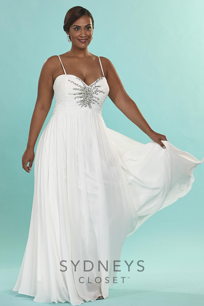 Sydneys Closet SC5071 Plus Size Casual Wedding Dress
