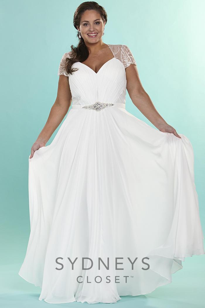 Sydneys closet sc5073 signature plus size vintage bridal for Immediate resource wedding dresses