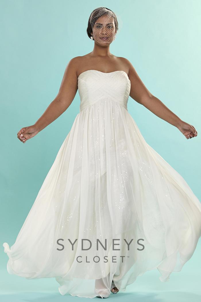 Sydneys closet sc5121 signature plus size bridal dress for Immediate resource wedding dresses