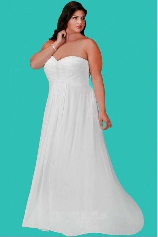 Sydneys Closet SC5202 Plus Size Romantic Informal Wedding Gown French Novelty