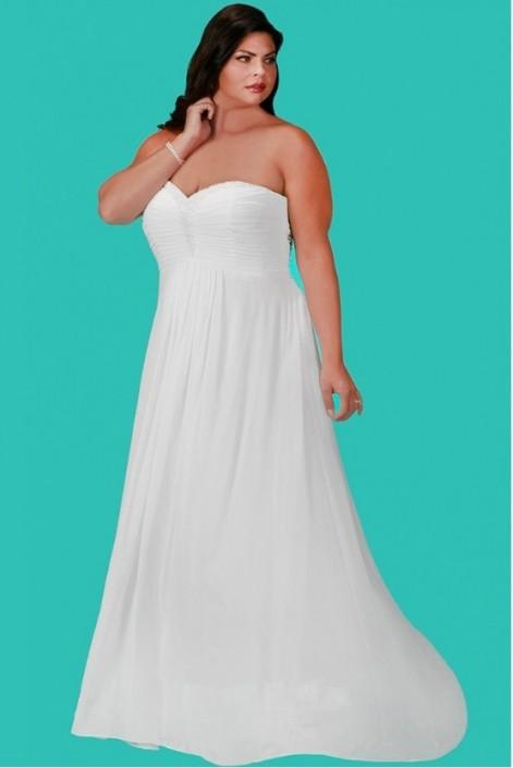 Size 24W Ivory Sydneys Closet SC5202 Plus Size Wedding Gown