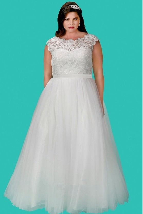 Plus Size Wedding Dresses Houston : Sydneys closet sc feminine plus size wedding dress