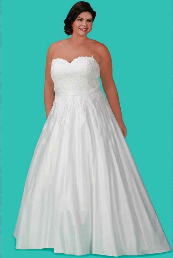 Sydneys Closet SC5215 Plus Size Informal Wedding Gown French Novelty