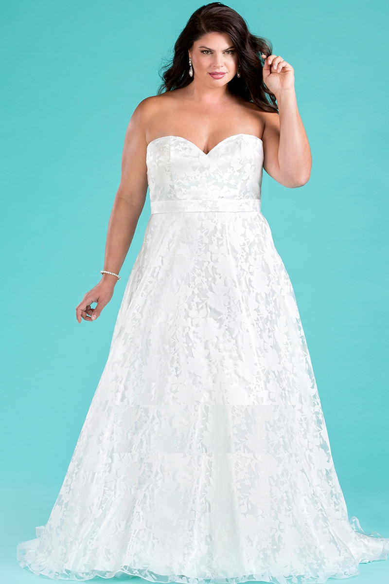 Sydneys Closet SC5221 Flattering Plus Size Wedding Dress: French Novelty