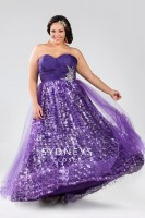 Size 18 Berry Pink Sydneys Closet SC6007 Plus Size Ball Gown image