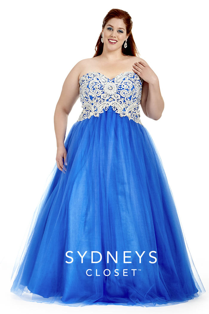 Sydneys Closet Sc6009 Plus Size Tulle Prom Dress French Novelty
