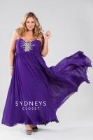 Sydneys Closet SC7071 Plus Size Butterfly Bodice Dress image