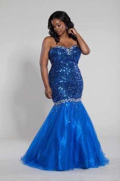 Sydneys Closet Sc7101 Plus Size Sequin Mermaid Dress French Novelty