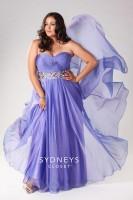 Size 16 Purple Sydneys Closet SC7129 Plus Size Beaded Dress image
