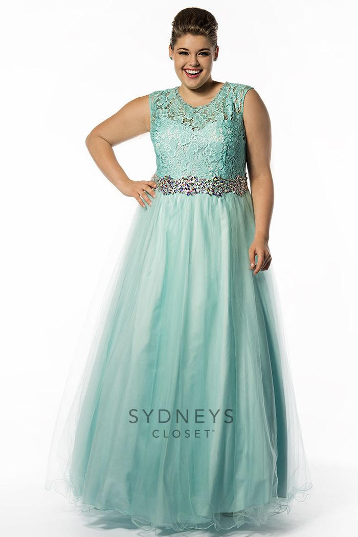 Sydneys Closet Sc7150 Signature Prom Dress With Lace