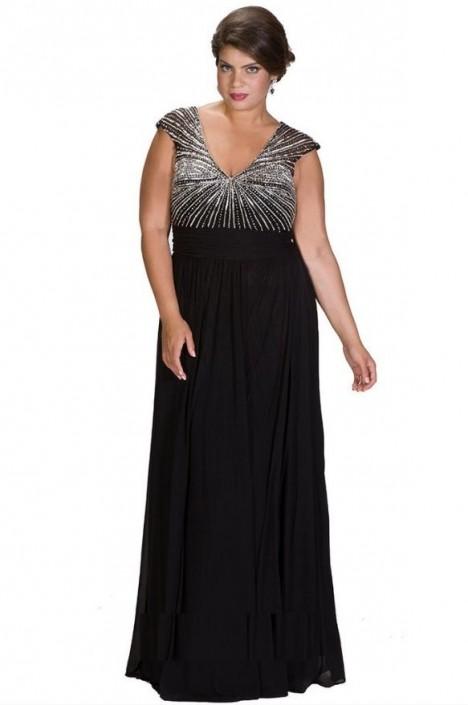 Sydneys Closet SC7214 Plus Size Flattering Prom Dress