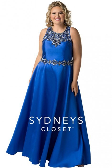 Sydneys Closet SC7232 Plus Size Beaded Prom Gown: French Novelty