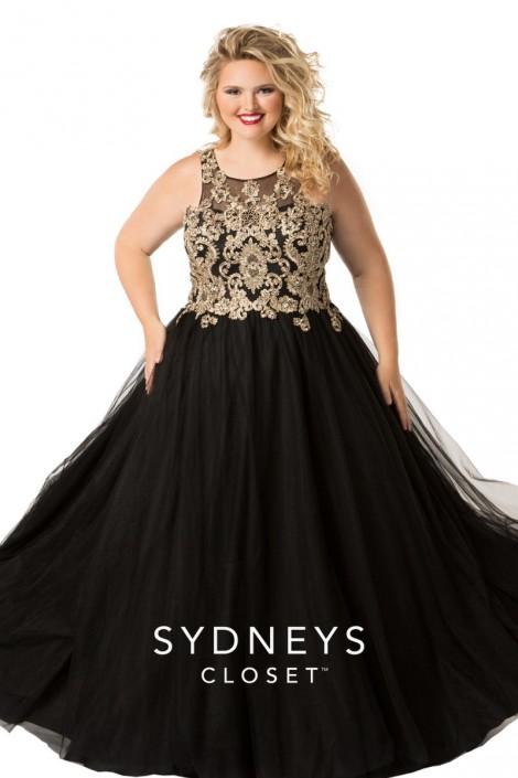 Sydneys Closet SC7245 Plus Size Princess Ball Gown