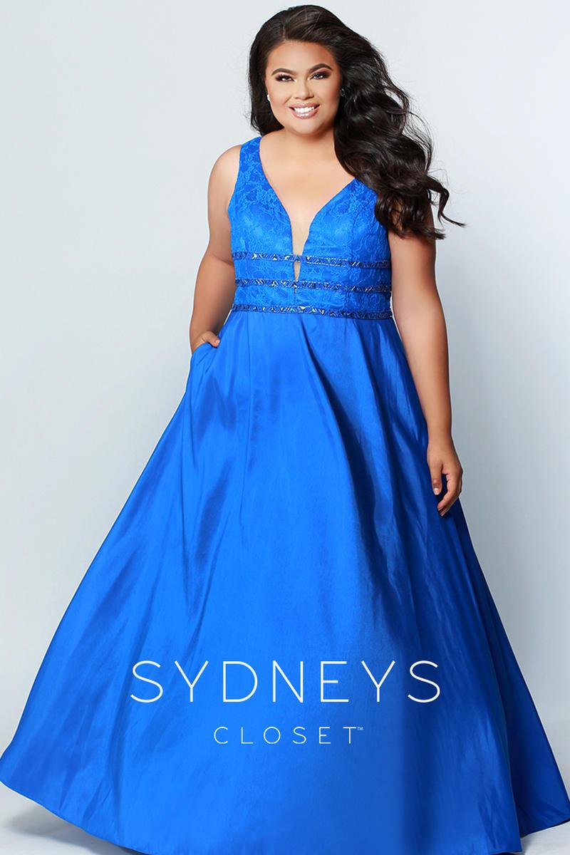 Sydneys Closet Sc7258 Plus Size Prom Dress With Pockets