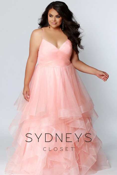 Sydneys Closet SC7268 Plus Size Princess Prom Dress